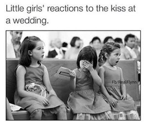 girl, kiss, and wedding image