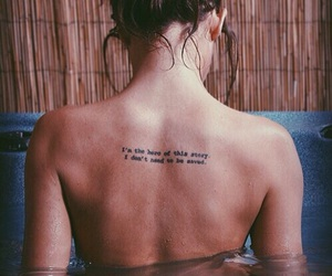 cool, quotes, and tattoo image