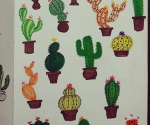 art, cactus, and concept image