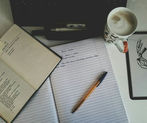 book, coffee, and literature image