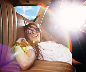 girl, car, and smile image