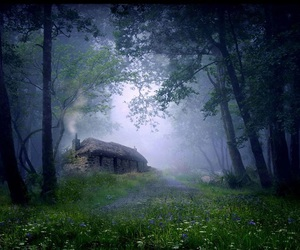 cottage, house, and nature image
