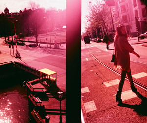 pink and street image