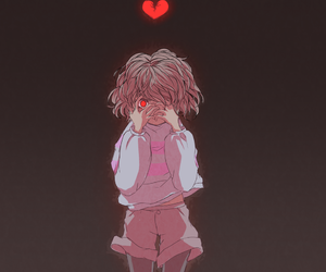 anime, heart, and frisk image