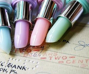 lipstick, pastel, and pink image
