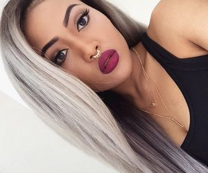 eyebrows, hairstyle, and lips image
