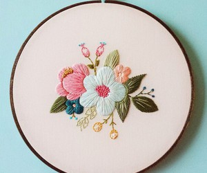 flowers and embroidery image