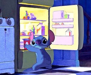 night, snack, and stich image