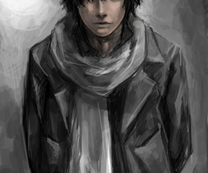 art, nice, and black hair image