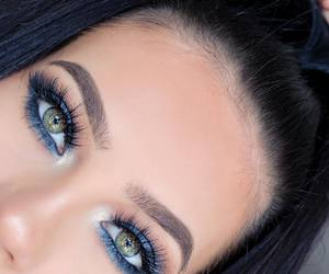 green eyes and brows image