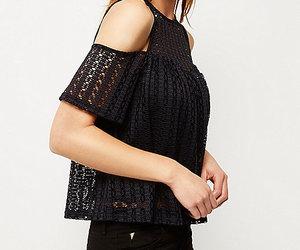 black, blouse, and clothing image