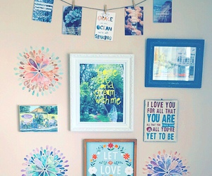 bedroom, walls, and quotes image