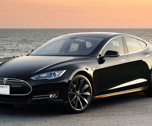 Tesla, car, and black image