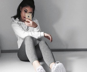 beauty, leggings, and clothes image