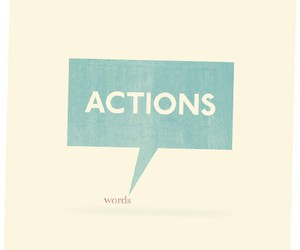 words and actions image