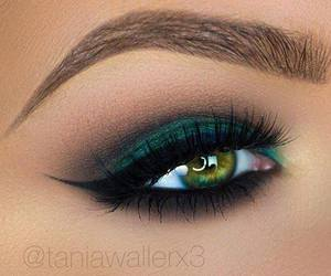 make up, girl, and eye image