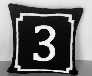 black and white, etsy, and monogrammed black image