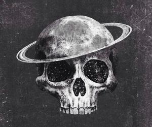 skull, art, and black and white image
