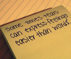tears, quote, and feelings image
