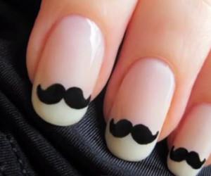nails, mustache, and moustache image
