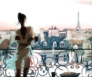 fashion, paris, and art and beauty image