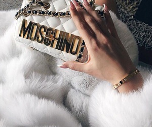 fashion, Moschino, and white image