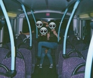 grunge, alien, and friends image