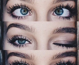 eyes, girl, and eyebrows image