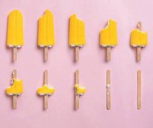 pink, yellow, and ice cream image