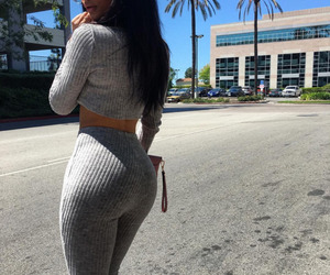 girl, outfit, and walking image