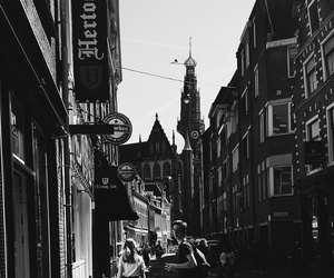 b&w, city, and holland image