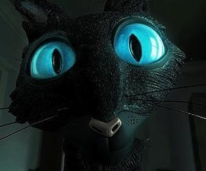coraline, cat, and black image