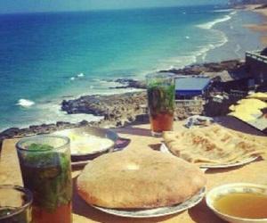 beach and maroc image