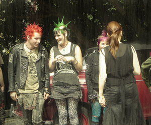 Mohawk, punks, and leather image