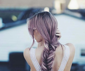 fashion, romantic, and purple hair image
