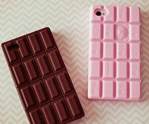 chocolate, iphone, and pink image