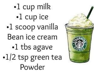 starbucks, diy, and green tea image
