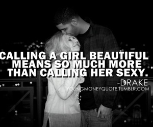 quote, Drake, and girl image