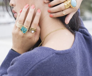 rings, girl, and nails image