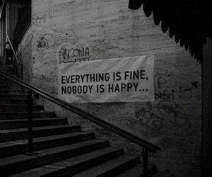 happy, quote, and sad image