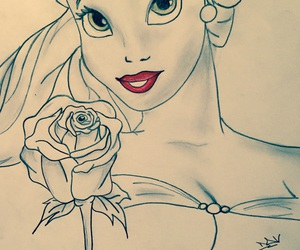 belle, princess, and rose image
