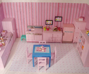 baby pink, house, and interior design image