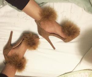 fashion, fur, and heels image