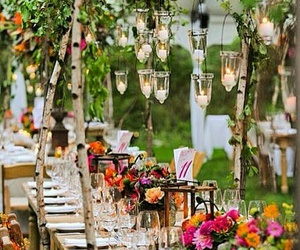 flowers, wedding, and light image