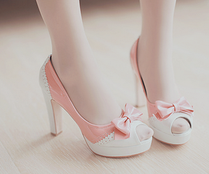 adorable, pink, and super cute heels image