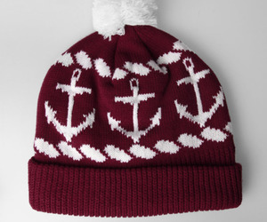 anchor, beanie, and red image