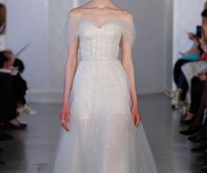bridal, oscar de la renta, and wedding dress image