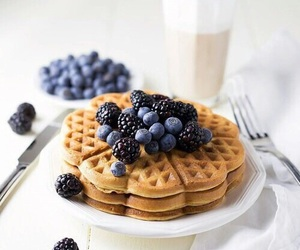 food, breakfast, and blueberry image