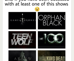 arrow, teen wolf, and game of throne image