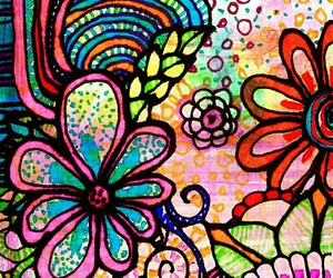 art, color, and flowers image